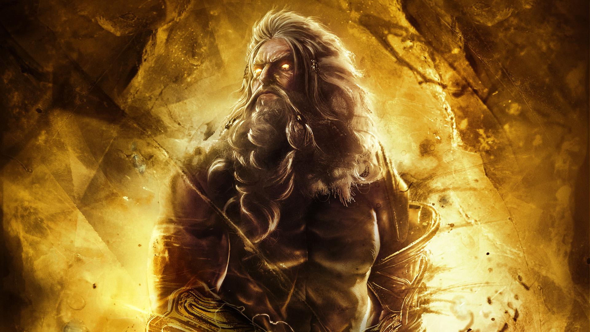 Zeus for God of war 3 jardines del olimpo